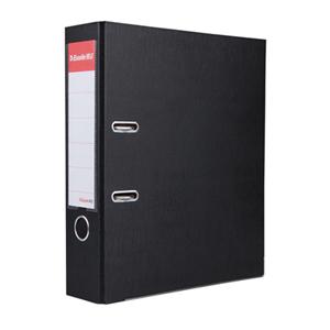 易达 27107P 半包胶档案夹 A4 3寸背宽 70mm孔距 黑色