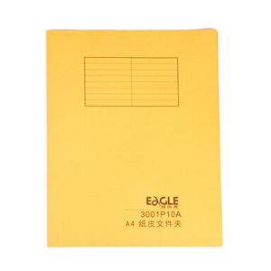 益而高 3001P10A 纸皮快劳文件夹 A4 黄色 20个/包