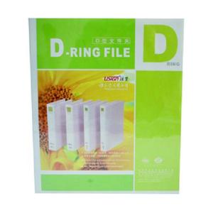 远生 加插封面文件夹,1.5寸 2孔 A4 白色 US-1520D 单个