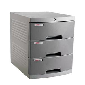 远生 三层带锁文件柜US-1K 灰