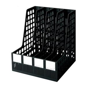 钊盛 特大四档文件栏ZS-528(黑)(可存放三寸厚资料)4个/盒