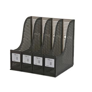 钊盛 亮彩四档文件栏ZS-294S(烟灰)10个/盒