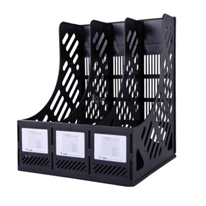 钊盛 三档文件栏ZS-618(黑色)20个/盒