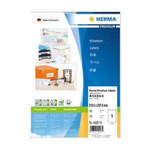 豪玛 打印标签 H4428-10(210.0*297.0mm,方角,1个/张)