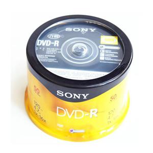 索尼 DVD-R 索尼 4.7G/16X(50片筒装) 银色  一次性刻录光盘