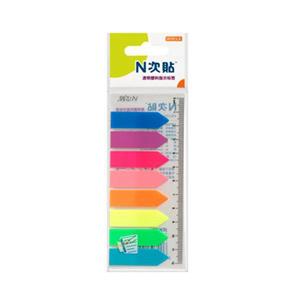 """N次贴 34022 塑料透明8色箭头荧光标签 2""""×0.5"""""""