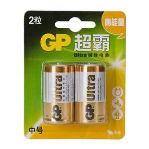 超霸 14AU-2IL2 碱性电池 2号 2节卡装