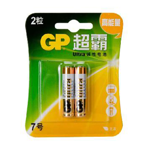 超霸 24A-L2 7号 碱性电池 2粒/卡