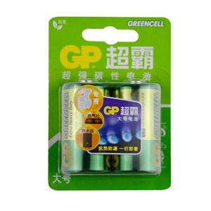 超霸 13G-2IL2 碳性电池 1号 2节卡装