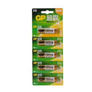 超霸 15A-L5i 碱性电池 5号 5节卡装