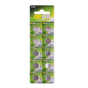 超霸 189-LY 碱性电池 扣式 10节卡装