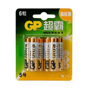 超霸 15AU-2IL6 碱性电池 5号 6节卡装