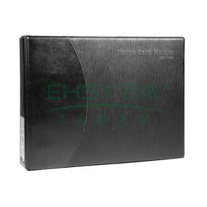 齐心 A1611 易分类大容量商务名片册 2孔夹360枚 黑