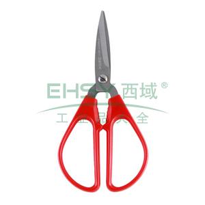 齐心 B2710 小号大手柄剪刀 146mm 红