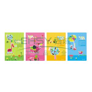 齐心 C16060-1 开心动物系列卡通软抄本B5 颜色随机