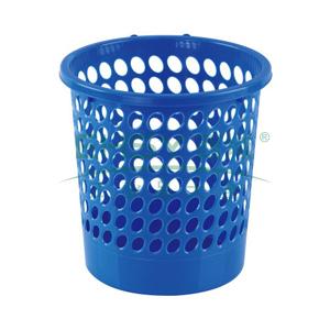 齐心 L201 圆形经济型纸篓24cm 蓝