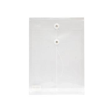 史泰博 NP1028 缠绳档案袋 12只/包 A4 透明色