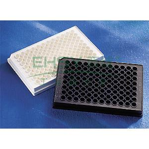 96孔板,黑色,平底,未处理表面,未灭菌,散装,25个/包