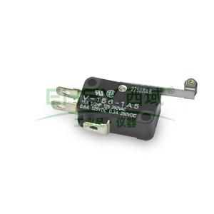欧姆龙 手柄微动开关,V-156-1A5 BY OMI 小型 端子A 枢轴滚轮型