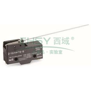 欧姆龙 标准型微动开关,Z-15HW78-B 小型 螺丝端子 线型摆杆型