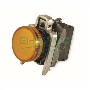 施耐德 金属指示灯,XB4BVB5 LED灯 黄色 24VAC/DC(ZB4BVB5+ZB4BV053)