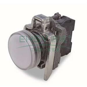 施耐德 金属指示灯,XB4BVG1 LED灯 白色 48-120VAC(ZB4BVG1+ZB4BV013)
