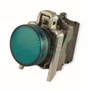 施耐德 金属指示灯,XB4BVG3 LED灯 绿色 48-120VAC(ZB4BVG3+ZB4BV033)