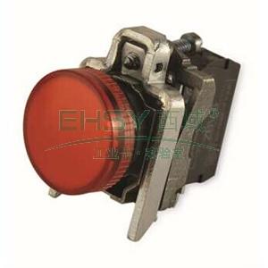 施耐德 金属指示灯,XB4BVG4 LED灯 红色 48-120VAC(ZB4BVG4+ZB4BV043)