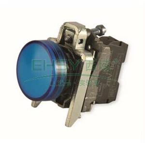 施耐德 金属指示灯,XB4BVM6 LED灯 蓝色 230-240VAC(ZB4BVM6+ZB4BV063)