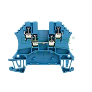 直通型接线端子,魏德米勒,W 系列接线端子,WDU 1.5/ZZ BL