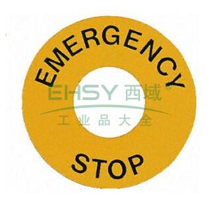 施耐德 XB2 φ60急停标牌(Emergencystop),ZB2BY9330C