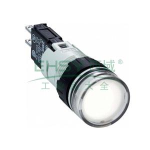 施耐德 圆形白色 (LED12~24V) 16mm指示灯,XB6AV1BB