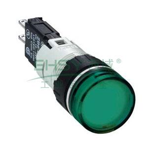 施耐德 圆形绿色 (LED12~24V) 16mm指示灯,XB6AV3BB