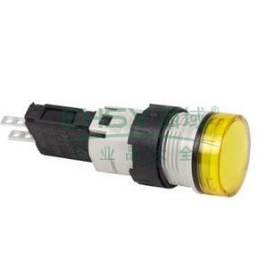 施耐德 圆形黄色 (LED12~24V) 16mm指示灯,XB6AV5BB
