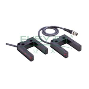 欧姆龙 凹槽型光电开关,E3Z-G61 2M BY OMS 25mm 放大器内置