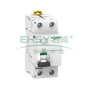施耐德 微型漏电保护开关,Acti9 iID 2P 63A 30mA AC,A9R52263