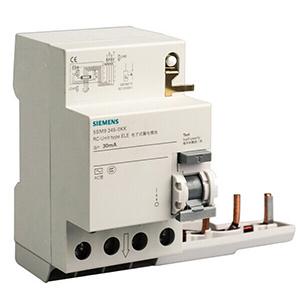 西门子 5SM9系列剩余电流保护模块 电子式 A(K)型 30mA 4P 40A,5SM93426KK01