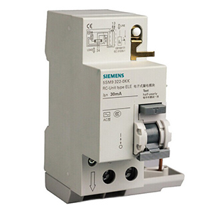 西门子 5SM9系列剩余电流保护模块 电子式 A型 30mA 2P 63A 带过电压保护,5SM93256KN