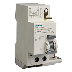 西门子 5SM9 5SN4/5SL4专用漏电保护附件 0.3-40A/2P/30mA AC型,5SM93230
