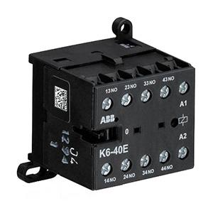 ABB 四极交流线圈中间继电器,K6-40E-84