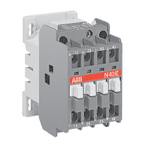 ABB 四极交流线圈中间继电器,N40E(AC380-400V50HZ/AC400-415V60HZ)