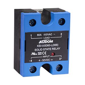 库顿 单相面板安装交流固态继电器,KSI480D80-L 80A 48-530VAC 4-32VDC控制