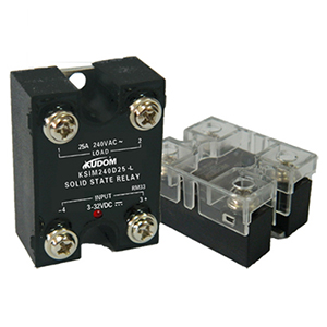 库顿 单相面板安装固态继电器,KSIM240D25-L 25A 48-280VAC 4-32VDC控制