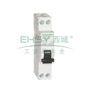 施耐德 微型漏电保护断路器,Acti9 iDPNN Vigi+ 6KA 20A,A9D95620