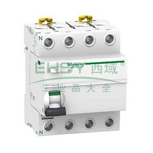施耐德 微型漏电保护开关,Acti9 iID 2P 100A 300mA AC,A9R82491