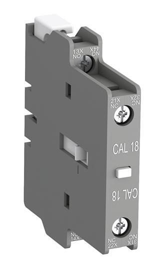 ABB 接触器1常开1常闭辅助触点,CAL18-11