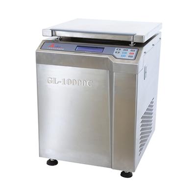 GL-10000C高速冷冻大容量离心机,整机全不锈钢,最高转速10000转/分,安亭