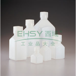 NALGENE有刻度的方形瓶,聚丙烯,125ml容量