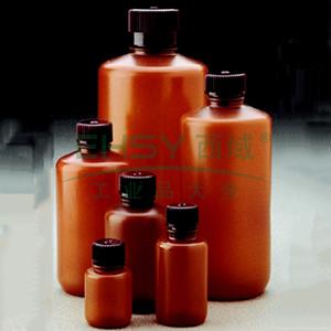 棕色窄口包装瓶,1000 ml,HDPE,PP