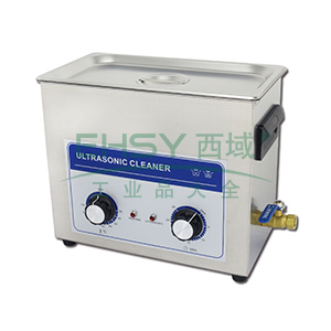 超声波清洗机,机械定时加热控制,容量:6.5L,超声波功率:180W,洁盟